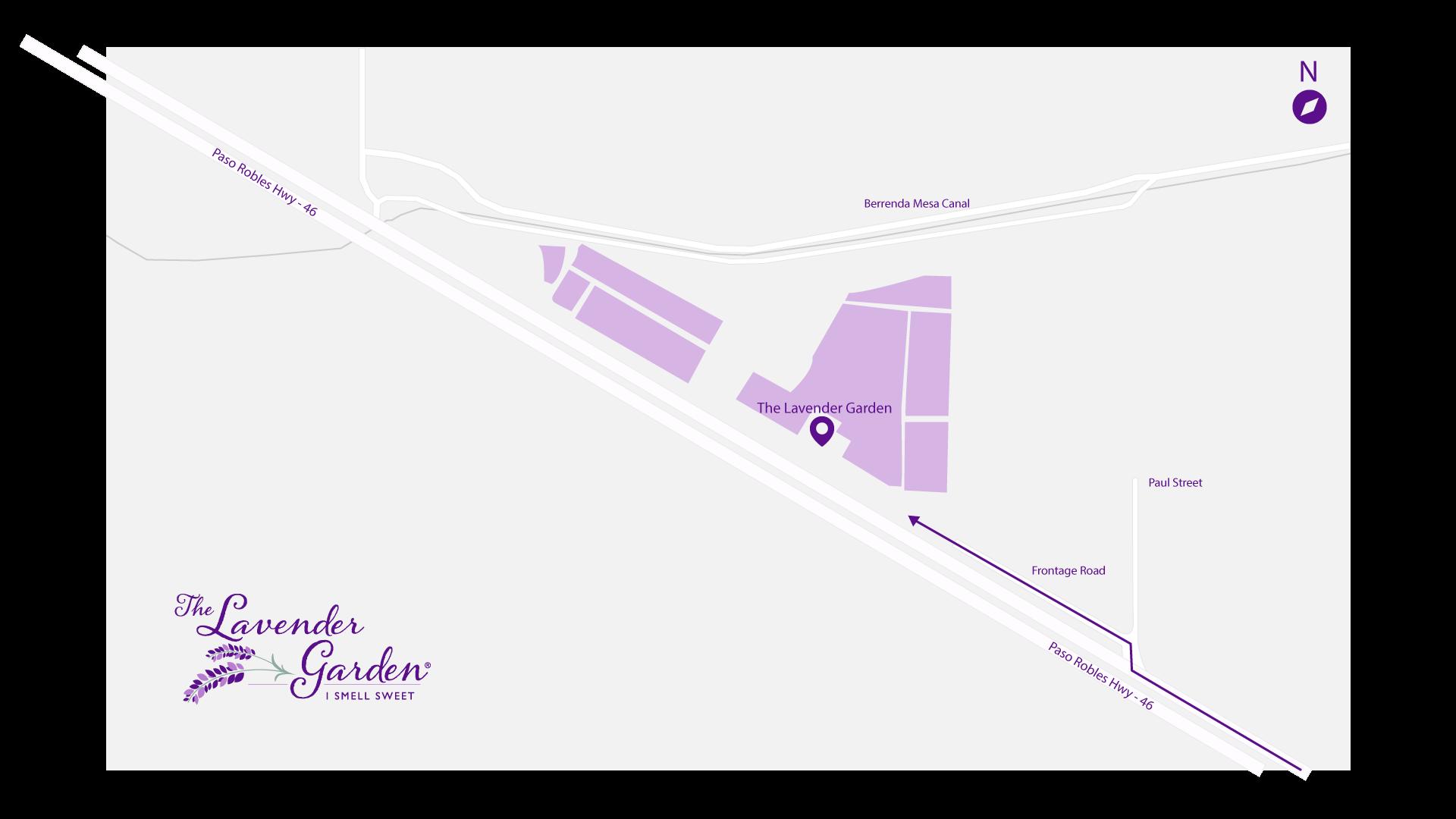 The Lavender Garden Highway Map