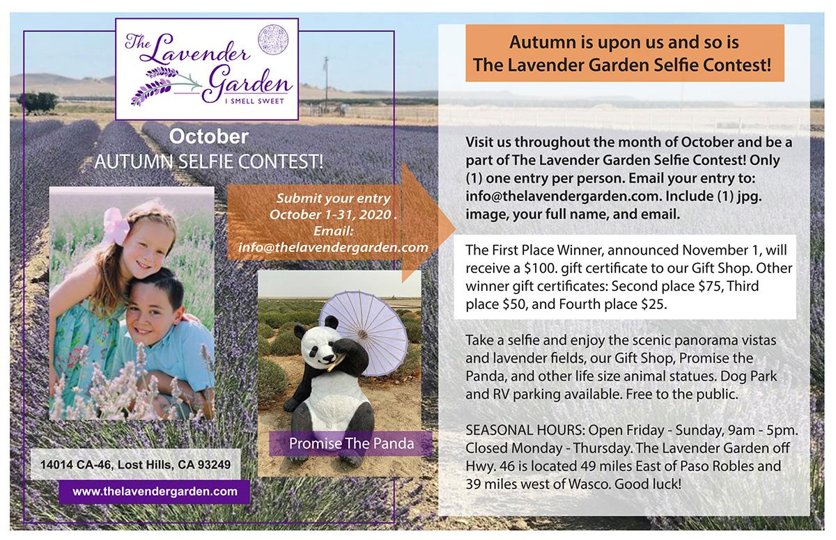 Autumn Selfie Contest at The Lavender Garden