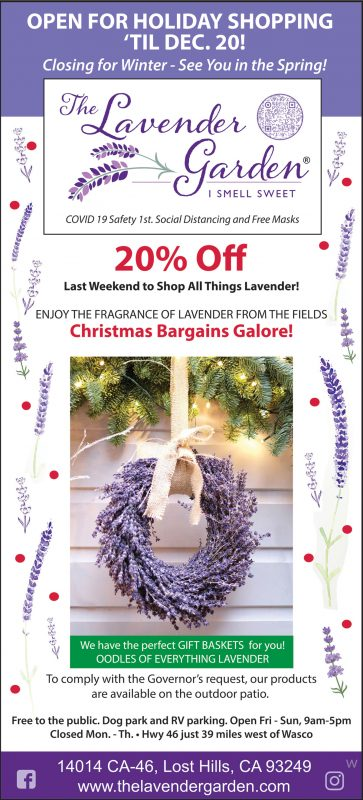 The Lavender Garden holiday shopping