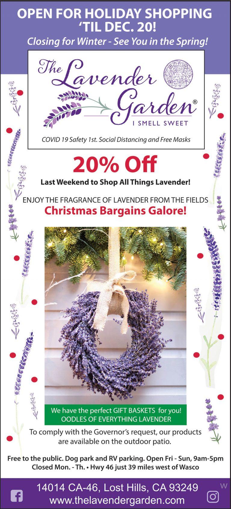 The Lavender Garden holiday shopping