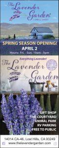 The Lavender Garden Spring Season Opening April 2, 2021