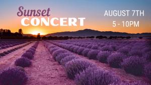 Sunset Concert at The Lavender Garden August 7